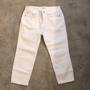 LOFT white jean crop pants size 6